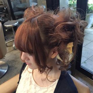 ヘアアレンジ ガーリー 簡単ヘアアレンジ ショート ヘアスタイルや髪型の写真・画像