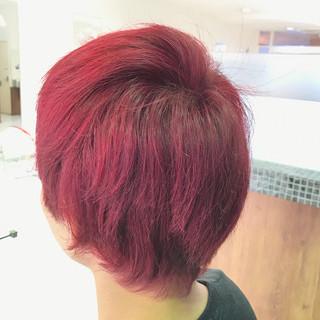 ピンク ナチュラル ダブルカラー 個性的 ヘアスタイルや髪型の写真・画像