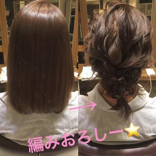 ヘアアレンジ ボブ 結婚式 ナチュラル ヘアスタイルや髪型の写真・画像 ヘアスタイルや髪型の写真・画像