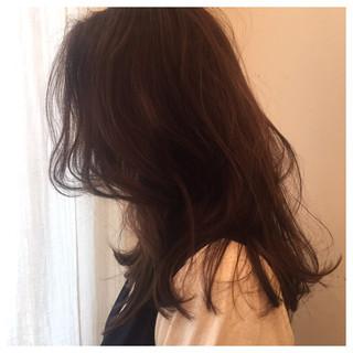 アッシュ かっこいい ナチュラル ロング ヘアスタイルや髪型の写真・画像