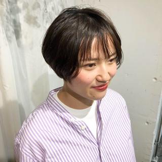 ハンサムショート ショートボブ 春 ショート ヘアスタイルや髪型の写真・画像