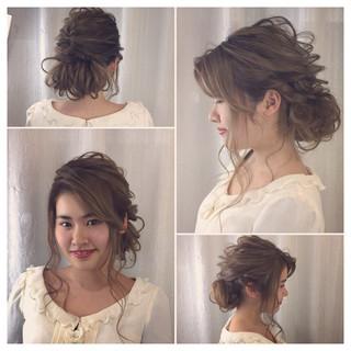 ロング エレガント パーティ ヘアアレンジ ヘアスタイルや髪型の写真・画像