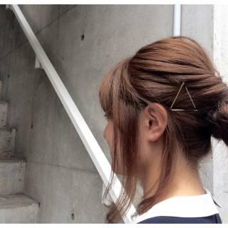 簡単ヘアアレンジ ヘアアレンジ ショート ヘアアクセ ヘアスタイルや髪型の写真・画像 ヘアスタイルや髪型の写真・画像