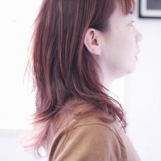 ラベンダーアッシュ ゆるふわパーマ ラベンダー セミロング ヘアスタイルや髪型の写真・画像