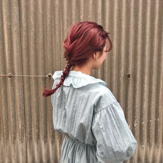 ヘアアレンジ ピンク ロング 成人式 ヘアスタイルや髪型の写真・画像