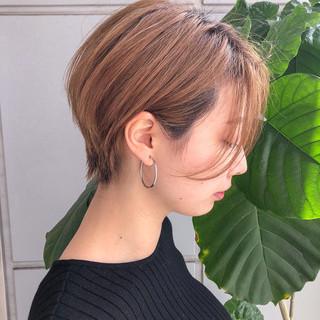 パーマ ヘアアレンジ ショート ひし形シルエット ヘアスタイルや髪型の写真・画像
