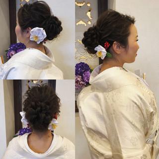 フェミニン ブライダル ヘアアレンジ ロング ヘアスタイルや髪型の写真・画像