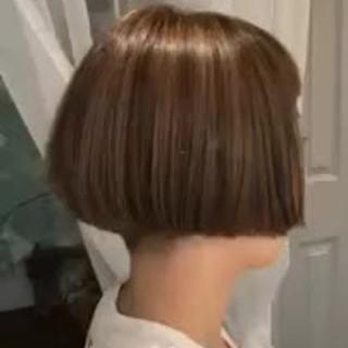 ハイライト ボブ デート アウトドア ヘアスタイルや髪型の写真・画像