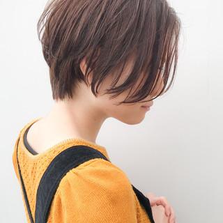 アンニュイほつれヘア イルミナカラー ショート 大人かわいい ヘアスタイルや髪型の写真・画像