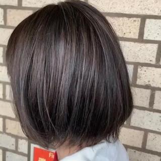 ショートボブ インナーカラー ボブ ベリーショート ヘアスタイルや髪型の写真・画像