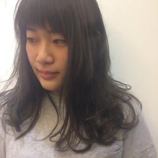 グラデーションカラー ロング ストリート パーマ ヘアスタイルや髪型の写真・画像