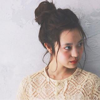 簡単ヘアアレンジ 暗髪 ショート ヘアアレンジ ヘアスタイルや髪型の写真・画像