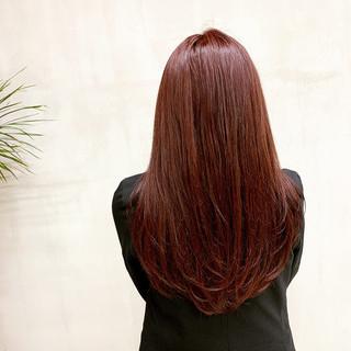 ピンク ナチュラル ベリーピンク ピンクベージュ ヘアスタイルや髪型の写真・画像