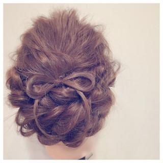ロープ編み セミロング ゆるふわ 大人かわいい ヘアスタイルや髪型の写真・画像