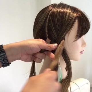 三つ編み ヘアアレンジ 簡単ヘアアレンジ ナチュラル ヘアスタイルや髪型の写真・画像