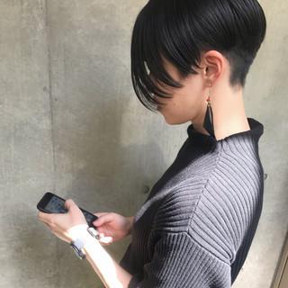 黒髪 モード 簡単ヘアアレンジ アウトドア ヘアスタイルや髪型の写真・画像