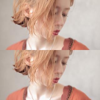 カジュアル ボブ ミニボブ ヘアアレンジ ヘアスタイルや髪型の写真・画像