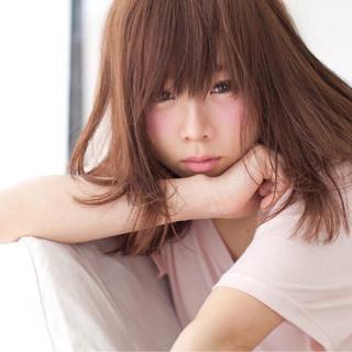 ミディアム 暗髪 ナチュラル アッシュ ヘアスタイルや髪型の写真・画像 ヘアスタイルや髪型の写真・画像