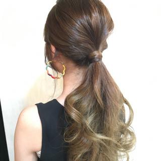 夏 ストリート 大人かわいい ロング ヘアスタイルや髪型の写真・画像