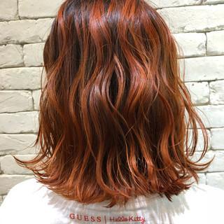 ショートヘア オレンジ アプリコットオレンジ ベリーショート ヘアスタイルや髪型の写真・画像