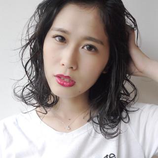 ミディアム 大人女子 抜け感 大人かわいい ヘアスタイルや髪型の写真・画像