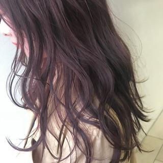 ラベンダーピンク ピンクアッシュ オフィス ヘアアレンジ ヘアスタイルや髪型の写真・画像 ヘアスタイルや髪型の写真・画像
