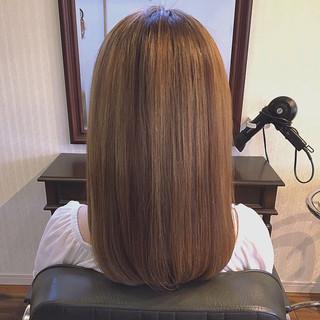 縮毛矯正 ロング 髪質改善トリートメント ブリーチ ヘアスタイルや髪型の写真・画像