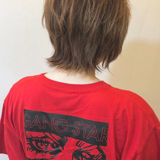 外国人風 ウルフカット ショート ストリート ヘアスタイルや髪型の写真・画像