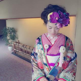 ブライダル ゆるふわ 結婚式 ヘアアレンジ ヘアスタイルや髪型の写真・画像