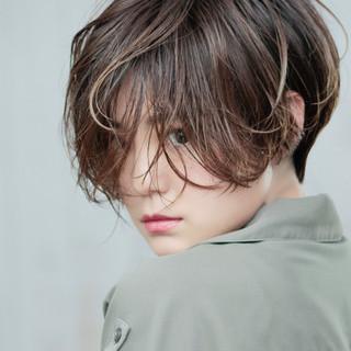 ハンサムショート ショート ショートボブ 小顔ショート ヘアスタイルや髪型の写真・画像