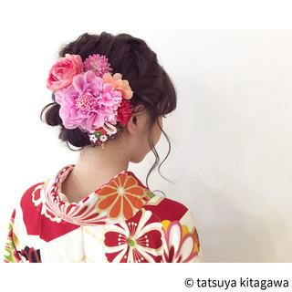 二次会 花嫁 謝恩会 ヘアアレンジ ヘアスタイルや髪型の写真・画像