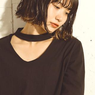 ハイライト 色気 モード パーマ ヘアスタイルや髪型の写真・画像