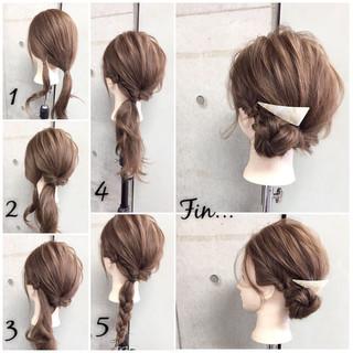 セミロング 大人女子 ショート シニヨン ヘアスタイルや髪型の写真・画像 ヘアスタイルや髪型の写真・画像