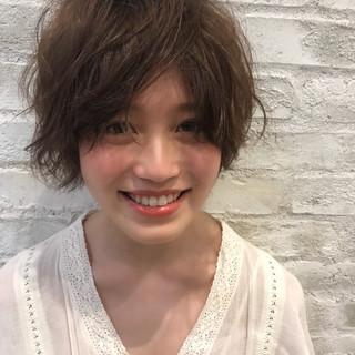 透明感 パーマ 大人かわいい ナチュラル ヘアスタイルや髪型の写真・画像