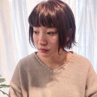 スモーキーカラー コントラストハイライト パーマ 3Dハイライト ヘアスタイルや髪型の写真・画像