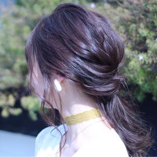 イノセントカラー ベージュ アッシュ セミロング ヘアスタイルや髪型の写真・画像 ヘアスタイルや髪型の写真・画像