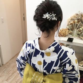 お祭り 夏 花火大会 結婚式 ヘアスタイルや髪型の写真・画像 ヘアスタイルや髪型の写真・画像