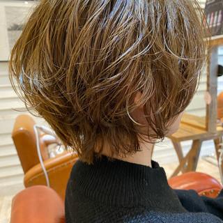 ベリーショート ショートヘア ショート パーマ ヘアスタイルや髪型の写真・画像