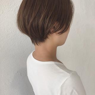大人かわいい ショート ナチュラル デート ヘアスタイルや髪型の写真・画像