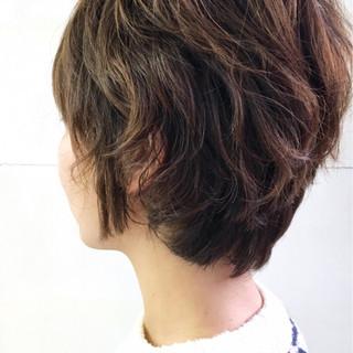 小顔 ショート ストリート ゆるふわ ヘアスタイルや髪型の写真・画像