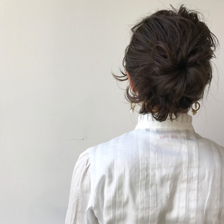 ショート ナチュラル 簡単ヘアアレンジ ハーフアップ ヘアスタイルや髪型の写真・画像