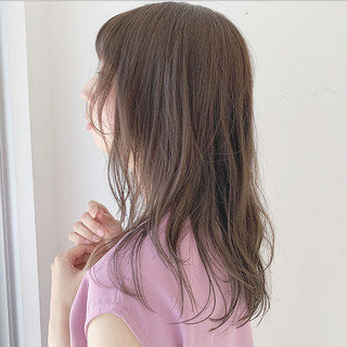 セミロング モテ髮シルエット ゆるふわセット モテ髪 ヘアスタイルや髪型の写真・画像