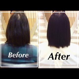 髪質改善 社会人の味方 髪質改善カラー 艶髪 ヘアスタイルや髪型の写真・画像