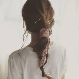 まとめ髪 束感 簡単ヘアアレンジ ストリート ヘアスタイルや髪型の写真・画像