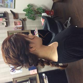 結婚式髪型 結婚式 セミロング 結婚式ヘアアレンジ ヘアスタイルや髪型の写真・画像
