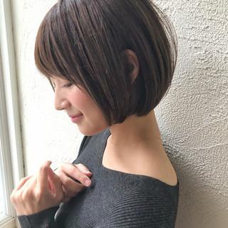 女子力 ショートボブ ボブ 大人かわいい ヘアスタイルや髪型の写真・画像