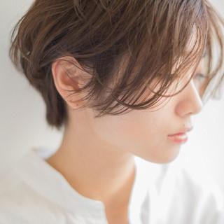 うざバング ショート アンニュイ ゆるふわ ヘアスタイルや髪型の写真・画像