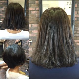 秋 スモーキーアッシュ ミディアム ストリート ヘアスタイルや髪型の写真・画像 ヘアスタイルや髪型の写真・画像