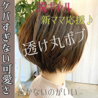 ショート ショートボブ ショートヘア 大人かわいい ヘアスタイルや髪型の写真・画像