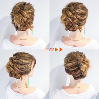 女子会 デート 簡単ヘアアレンジ 結婚式 ヘアスタイルや髪型の写真・画像